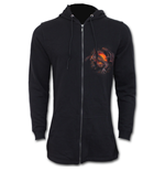 Dragon Furnace - Mens Fish Tail Zipper Hoody - Zip Sleeves