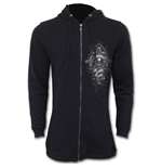 In Goth We Trust - Mens Fish Tail Zipper Hoody - Zip Sleeves