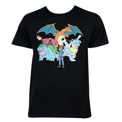 POKEMON Ash And Crew Tee Shirt