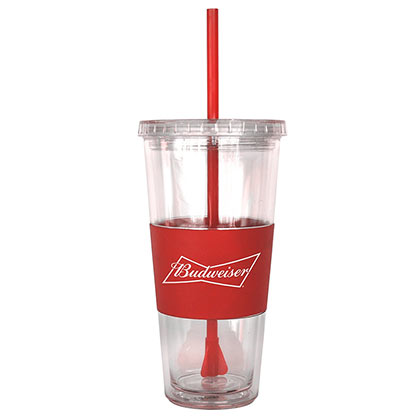 BUDWEISER Straw Tumbler Travel Cup