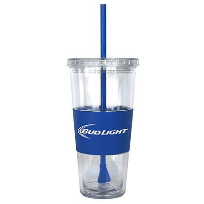 BUD LIGHT Straw Tumbler Travel Cup