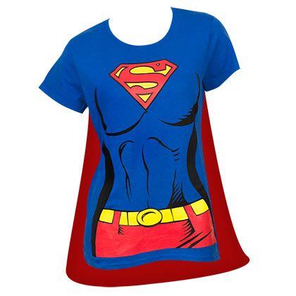 SUPERMAN Supergirl Cape Costume Tee Shirt