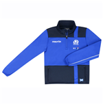 2016-2017 Scotland Macron Rugby Microfleece Half Zip Top (Blue) - Kids