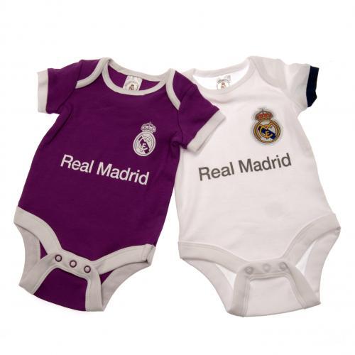 644ba82220a Buy Official Real Madrid F.C. 2 Pack Bodysuit 0/3 mths PL