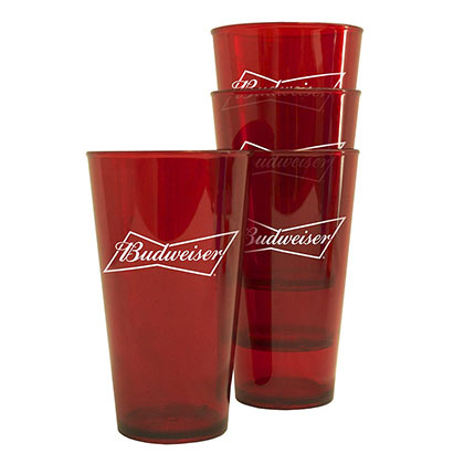 BUDWEISER Plastic Pint Glass Set