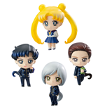 Sailor Moon Petit Chara Trading Figure 4-Pack Three Lights 6 cm