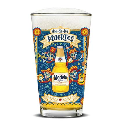 MODELO ESPECIAL Day Of The Dead Pint Glass