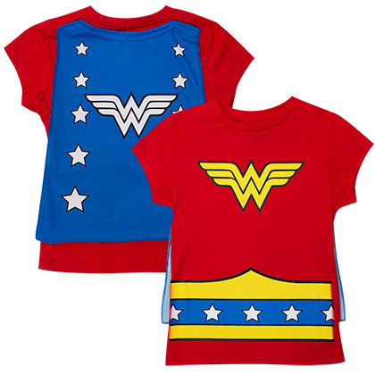 WONDER WOMAN Cape Costume Tee Shirt