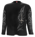 Tribal Chain - Longsleeve T-Shirt Black