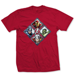 Marvel Comics T-Shirt The Avengers Diamond Characters