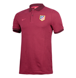 2016-2017 Atletico Madrid Nike Authentic League Polo Shirt (Night Maroon)