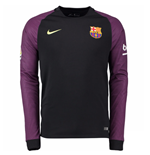 2016-2017 Barcelona Home Nike Goalkeeper Shirt (Black) - Kids