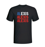 Alexis Sanchez Chile Player Flag T-shirt (black) - Kids