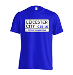 City of Champions - Leicester Street T-Shirt (Blue)