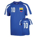 Colombia Sports Training Jersey (james 10) - Kids