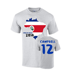 Costa Rica 2014 Country Flag T-shirt (campbell 12)