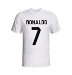 Cristiano Ronaldo Real Madrid Hero T-shirt (white) - Kids