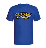 Cristiano Ronaldo Comic Book T-shirt (blue) - Kids