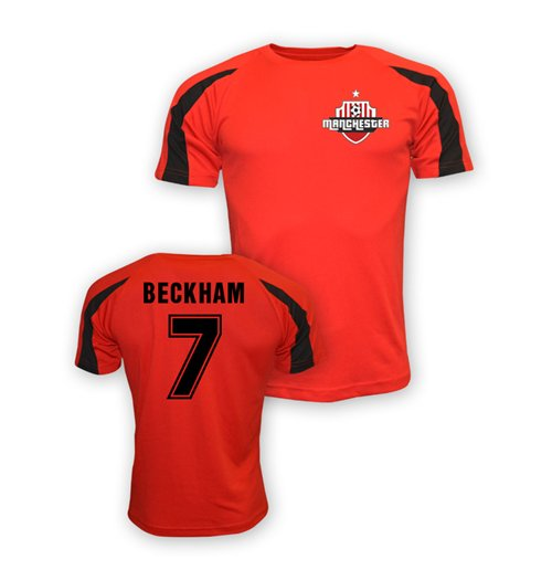 David Beckham Man Utd Sports Training Jersey (red) - Kids