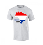 Holland 2014 Country Flag T-shirt (grey)