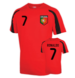 Portugal Sports Training Jersey (ronaldo 7) - Kids
