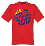 Spain Campeones de Europa T-Shirt (Red)