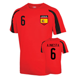 Spain Sports Training Jersey (a.iniesta 6) - Kids
