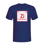 Zlatan Ibrahimovic Psg Periodic Table T-shirt (navy)