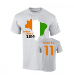 Ivory Coast 2014 Country Flag T-shirt (drogba 11)
