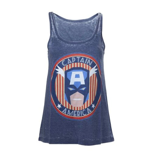Marvel - Captain America Star & Stripe  Women's Tank Top