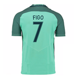 2016-17 Portugal Away Shirt (Figo 7)