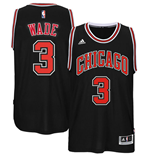 Men's Chicago Bulls Dwyane Wade adidas Black New Swingman Alternate Jersey