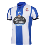 2016-2017 Deportivo La Coruna Lotto Home Football Shirt