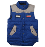 The Rolling Stones - Zc 15 BLUE-GREY Contrast Puffer Vest