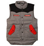 The Rolling Stones - Zc 15 BLACK-GREY Contrast Puffer Vest
