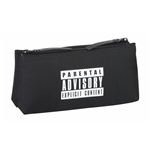 Parental Advisory pencil case double filed