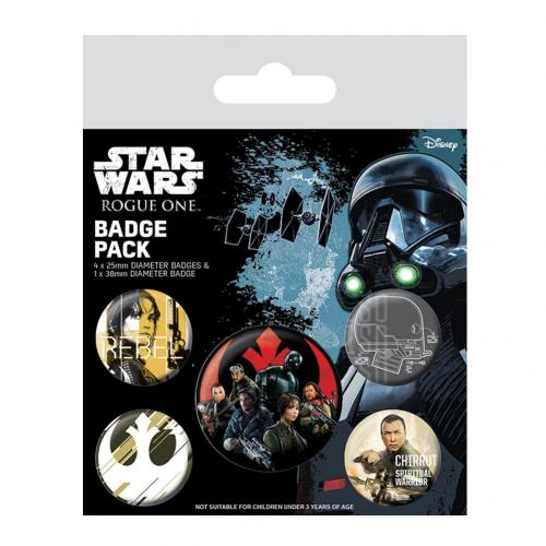 Star Wars Rogue One Button Badge Set Rebel