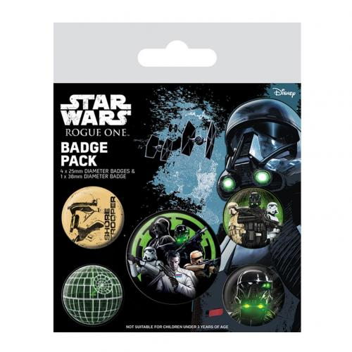 Star Wars Rogue One Button Badge Set Empire