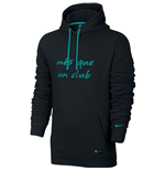 2016-2017 Barcelona Nike Core Hooded Top (Black-Energy)