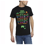 SPACE INVADERS Men's Multi-Coloured Attack T-Shirt, Medium, Black