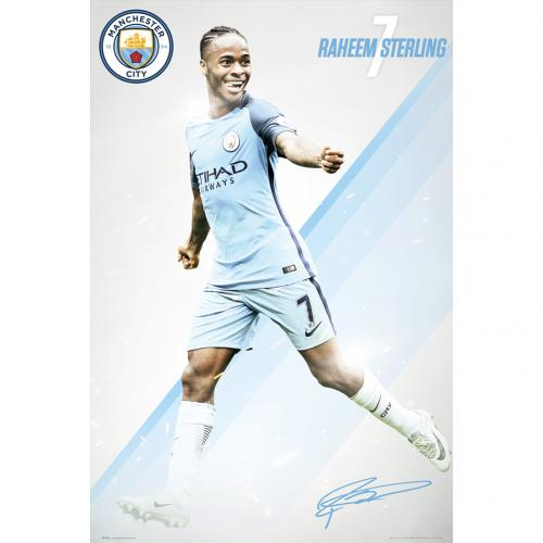 Manchester City F.C. Poster Sterling 28