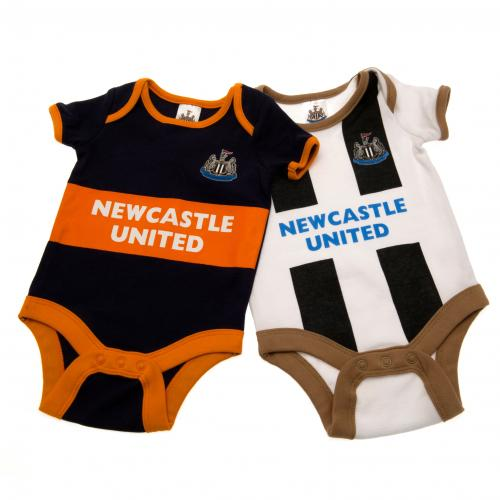 Newcastle United F.C. 2 Pack Bodysuit 6/9 mths