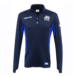 2016-2017 Scotland Macron Rugby Performance Softshell Half Zip Top (Navy)