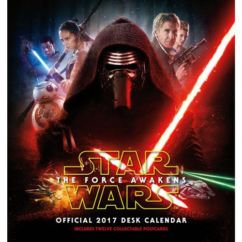 Star Wars The Force Awakens Desktop Calendar 2017
