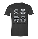 STAR WARS Men's Rogue One The Galactic Empire T-Shirt, Large, Anthracite