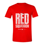 STAR WARS Men's Rogue One Red Squadron T-Shirt, Small, Red