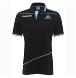 2016-2017 Glasgow Warriors Rugby Cotton Polo Shirt (Black)