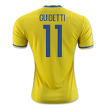 2016-2017 Sweden Home Adidas Shirt (Guidetti 11)