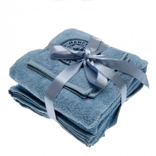 Manchester City F.C. 3 Piece Towel Set