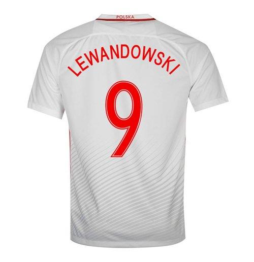 finest selection 8d36e 2cea2 2016-17 Poland Home Shirt (Lewandowski 9)